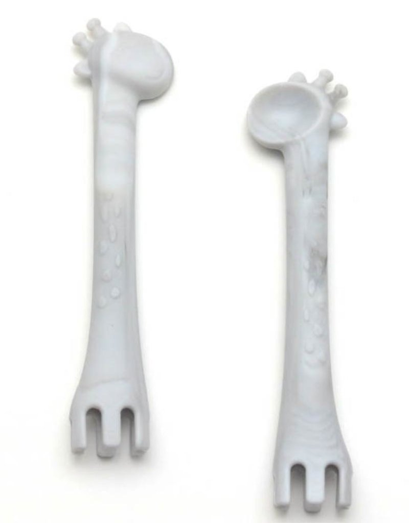 Getting Sew Crafty Marble Fork & Spoon Set