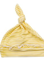 Angel Dear Yellow Striped Knotted Hat 0-3m