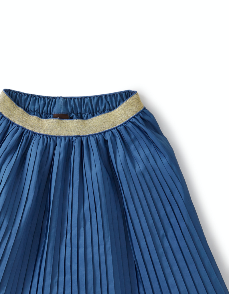 Tea Collection Metallic Waist Pleated Skirt