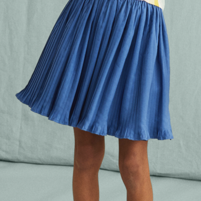 Tea Collection Metallic Waist Pleated Skirt