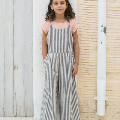 Tea Collection Striped Culotte Romper
