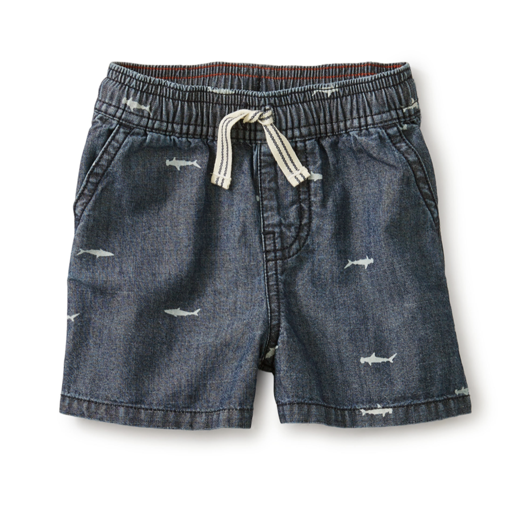 Tea Collection Chambray Discovery Baby Short