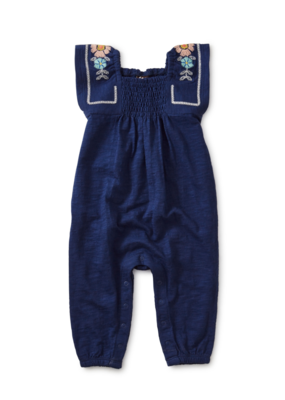 Tea Collection Jump Around Embroidered Romper