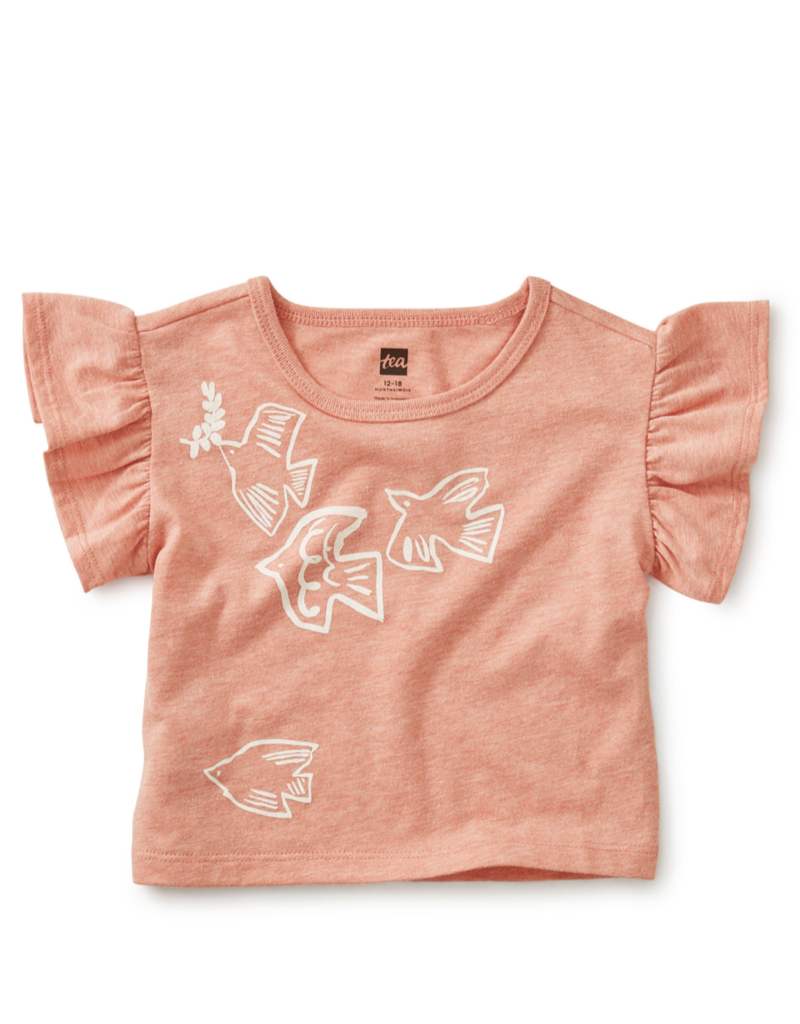 Tea Collection Birds Flying High Ruffle Tee