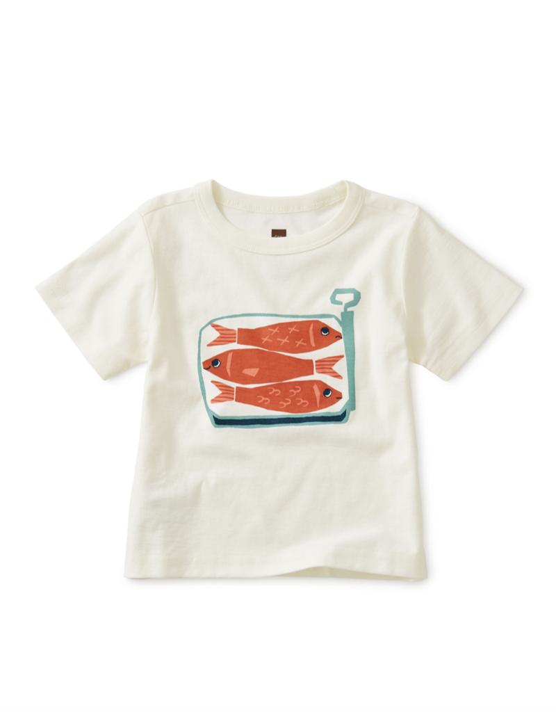 Tea Collection Sardines Baby Graphic Tee