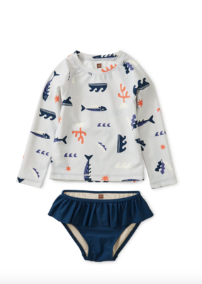 Tea Collection Printed Rash Guard Baby Set