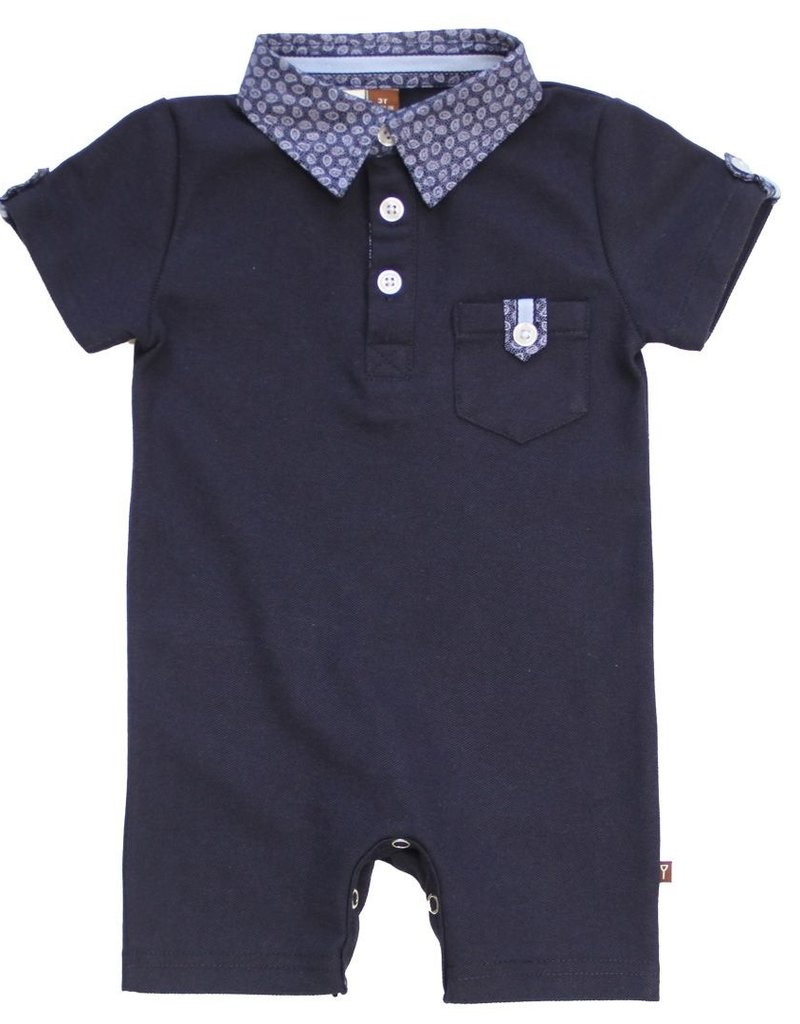 Fore! Navy Pique Romper