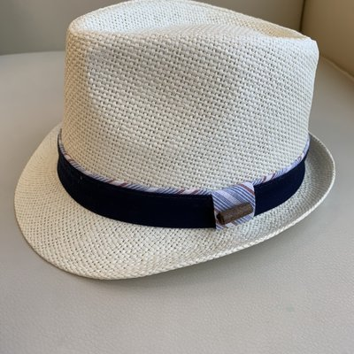 Fore! Linen Band Blue Hat