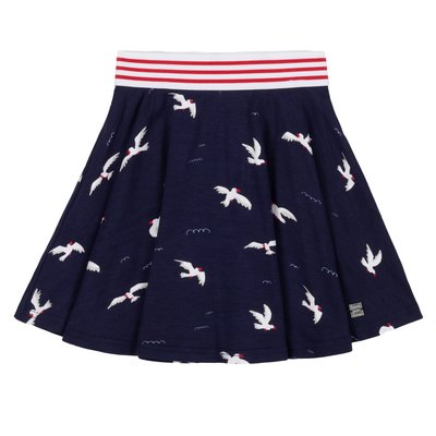 Deux Par Deux Gull navy skirt
