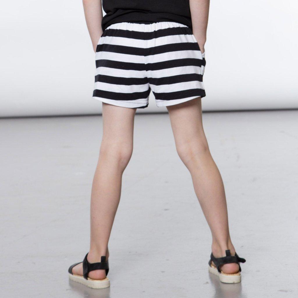 Deux Par Deux Big Black And White Striped Shorts