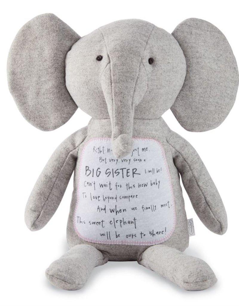 Mud Pie Big sister Elephant plush