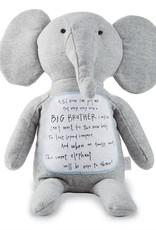 Mud Pie Big brother Elephant plush