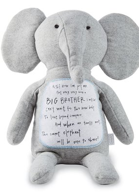 Mud Pie Big brother Elephant plush
