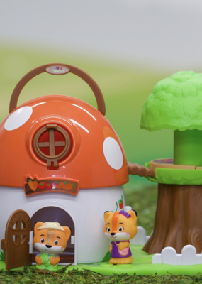 Fat Brain Toy Co Timber Tots Mushroom Surprise