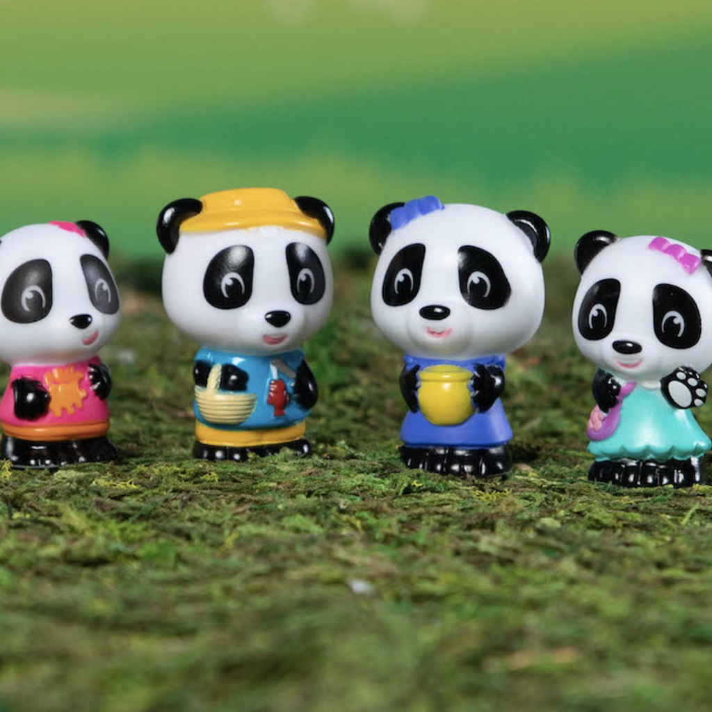 Fat Brain Toy Co Timber Tots Panda Family