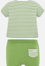 Mayoral USA Green Stripe with House Set