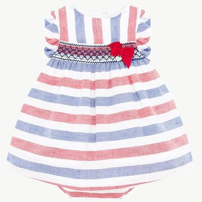Mayoral USA Red White Blue Stripe Dress