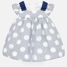 Mayoral USA Nautical Polka Dot Dress