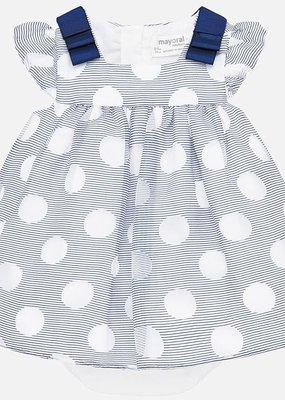 Mayoral USA Nautical Polka Dot Dress