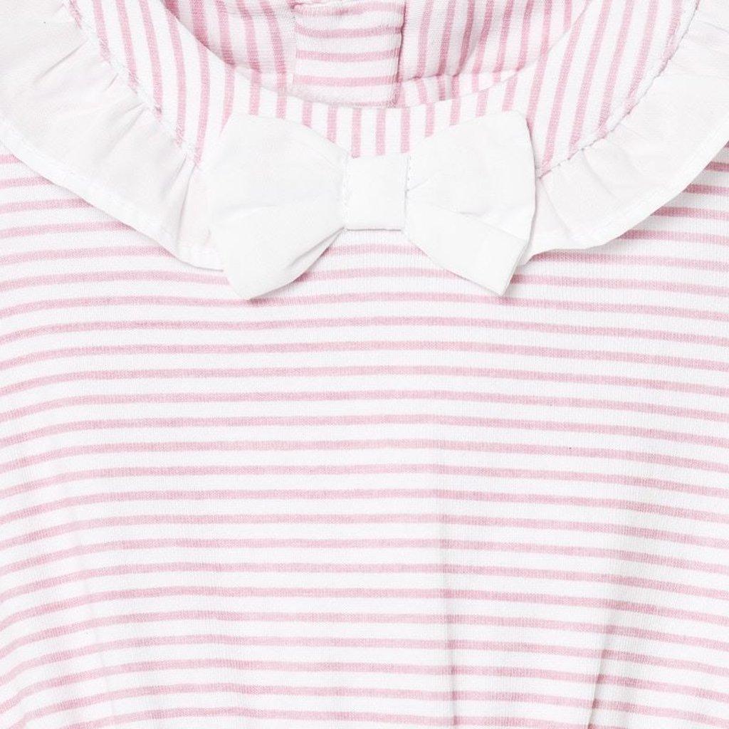 Mayoral USA Pink Stripe ribbon set with hat