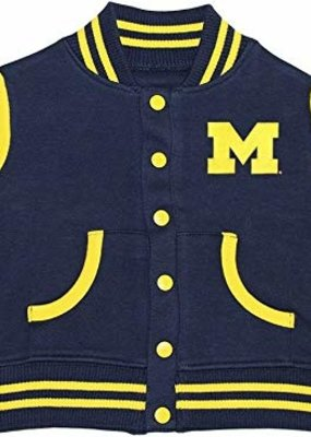 Creative Knitwear Navy Michigan Varsity Jacket