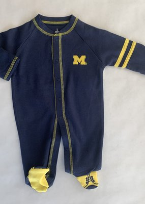 Creative Knitwear Navy Yellow Sport Shoe Romper