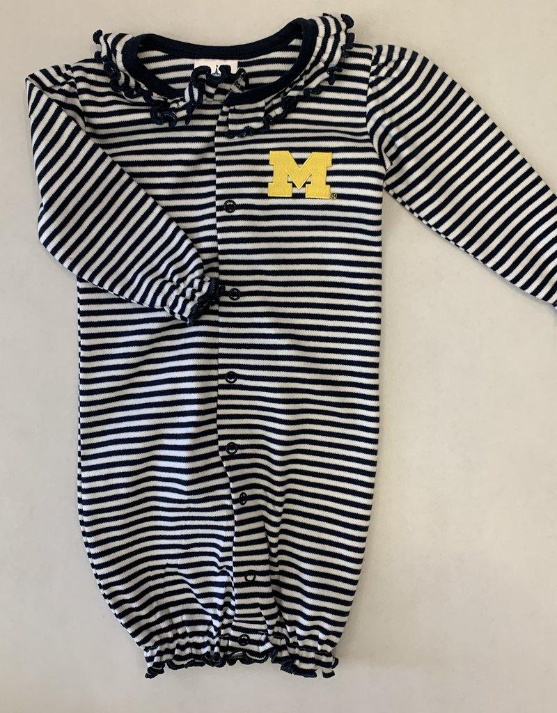 Creative Knitwear Navy Michigan Ruffle Striped Convertible