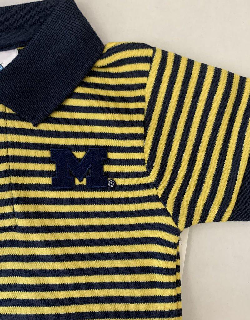 Creative Knitwear Maize & Blue Striped Polo Bodysuit