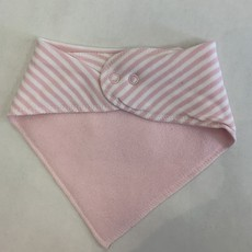 Creative Knitwear Pink Striped Michigan Bandana Bib