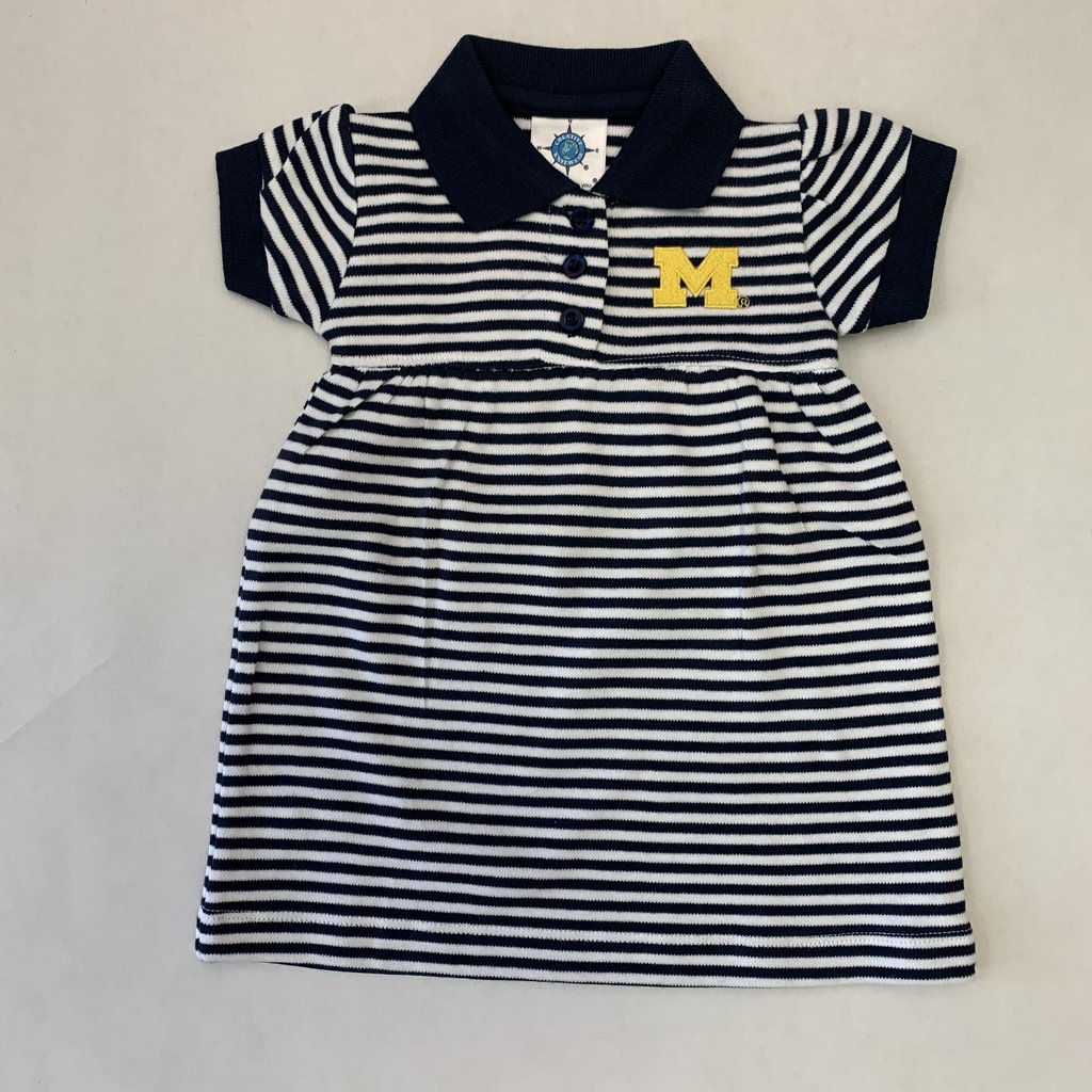Creative Knitwear Navy & White Striped Michigan Dress