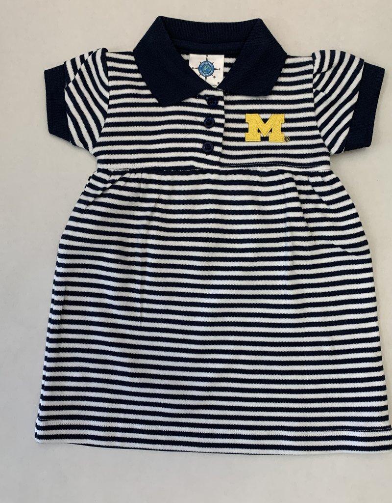Creative Knitwear Navy & White Striped Michigan Dress