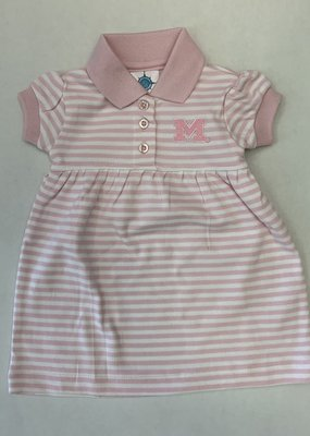 Creative Knitwear Pink White Striped Game Day Dress