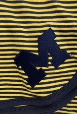 Creative Knitwear Maize & Blue Striped Michigan Blanket