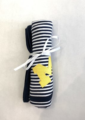 Creative Knitwear Navy & White Striped Michigan Blanket