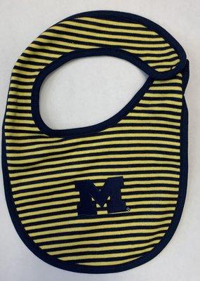 Creative Knitwear Maize & Blue Striped Bib