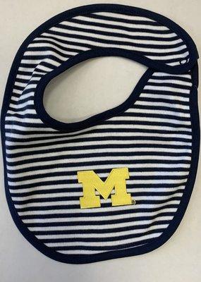 Creative Knitwear Navy Stripe Michigan Bib
