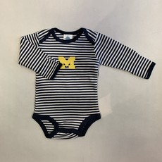 Creative Knitwear Navy & White Stripe L/S Bodysuit