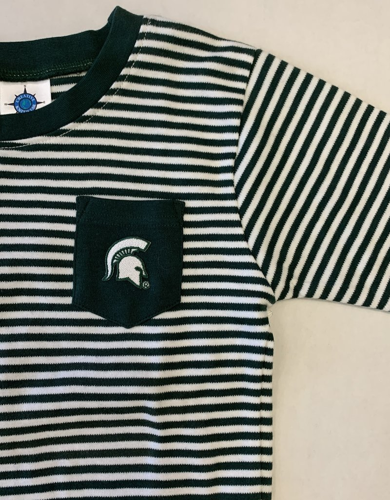 Creative Knitwear Hunter White Stripe MSU Tee