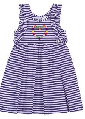 Deux Par Deux White and Purple Dress