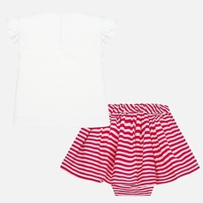 Mayoral USA Flower Stripe Skirt Set