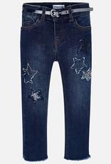 Mayoral USA Dark denim star patch jeans