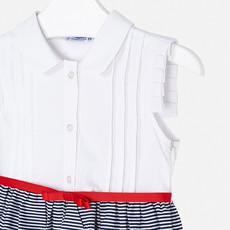 Mayoral USA Navy Striped Dress