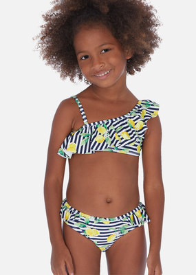 Mayoral USA Ruffle Lemon Bikini