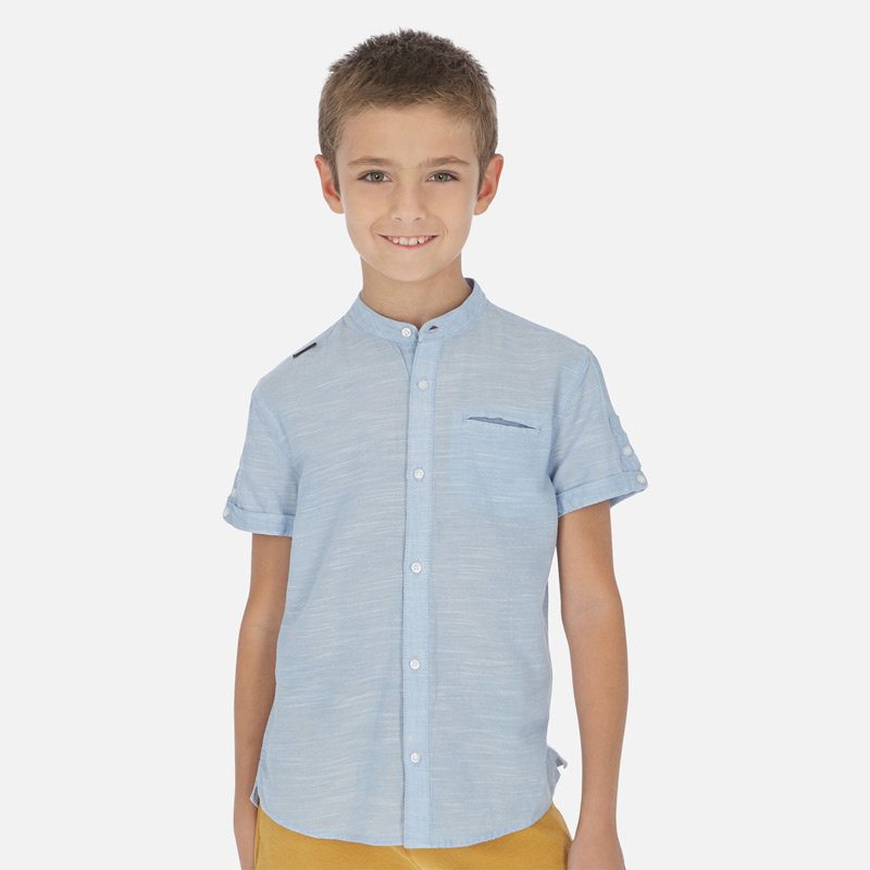 Mayoral USA Light Blue Short Sleeve Shirt