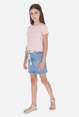 Mayoral USA bleached denim skirt