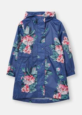 Joules Floral Blue Rain Jacket