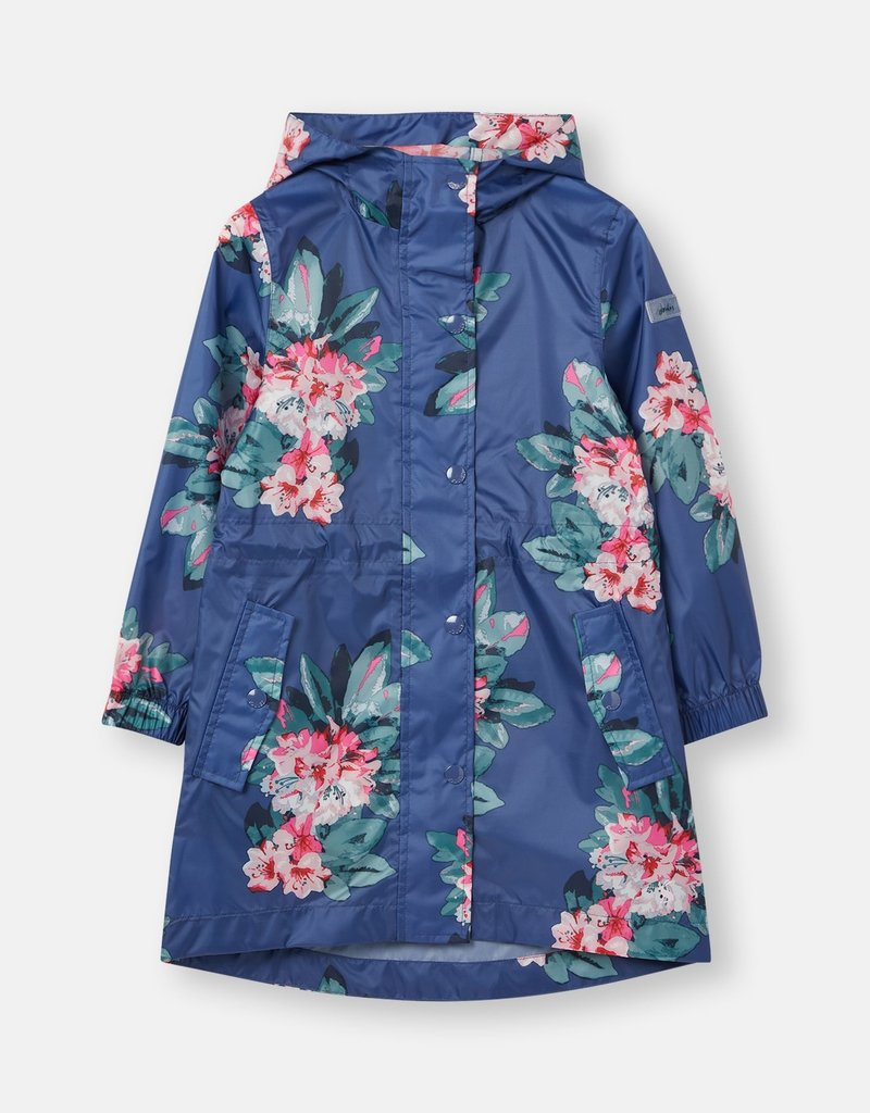 Little Joule Floral Blue Rain Jacket