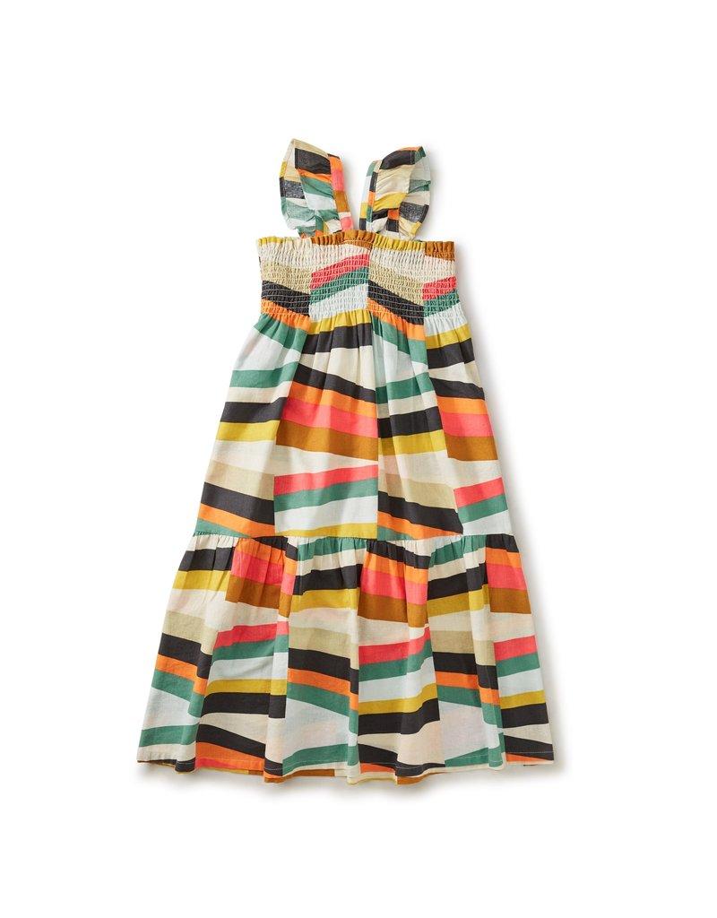 Tea Collection Ruffle Strap Midi Dress