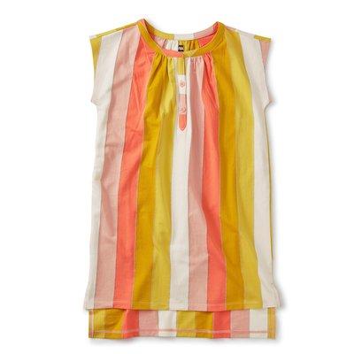 Tea Collection Metallic Stripe Kaftan Dress