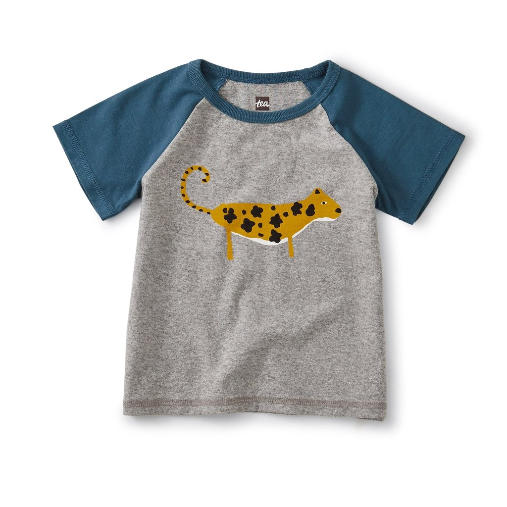 Tea Collection Leopard Cub Club Raglan Tee